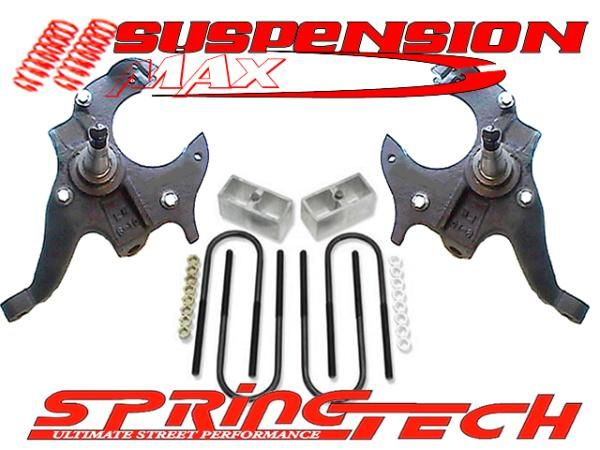 82 04 CHEVY S10 S15 BLAZER JIMMY SONOMA Lowering Kit SPINDLES 2 3