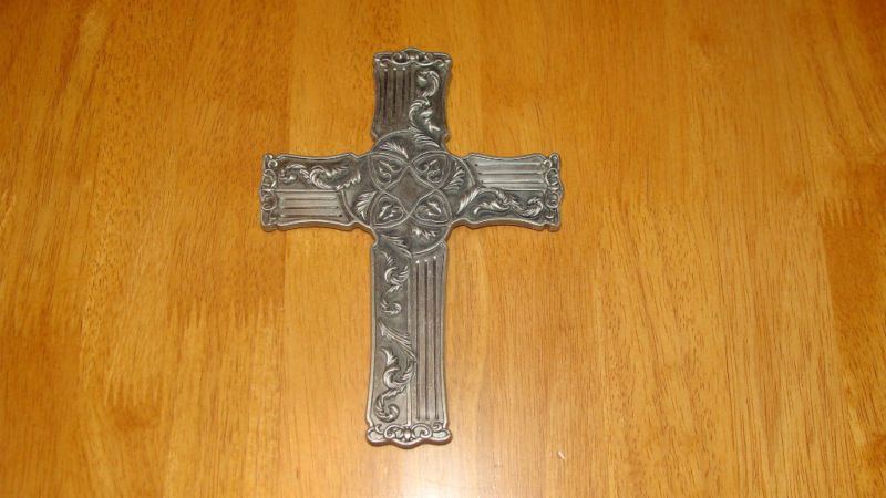 CarpenTree Metal Cross Wall Hanging (c) 2001 Taiwan