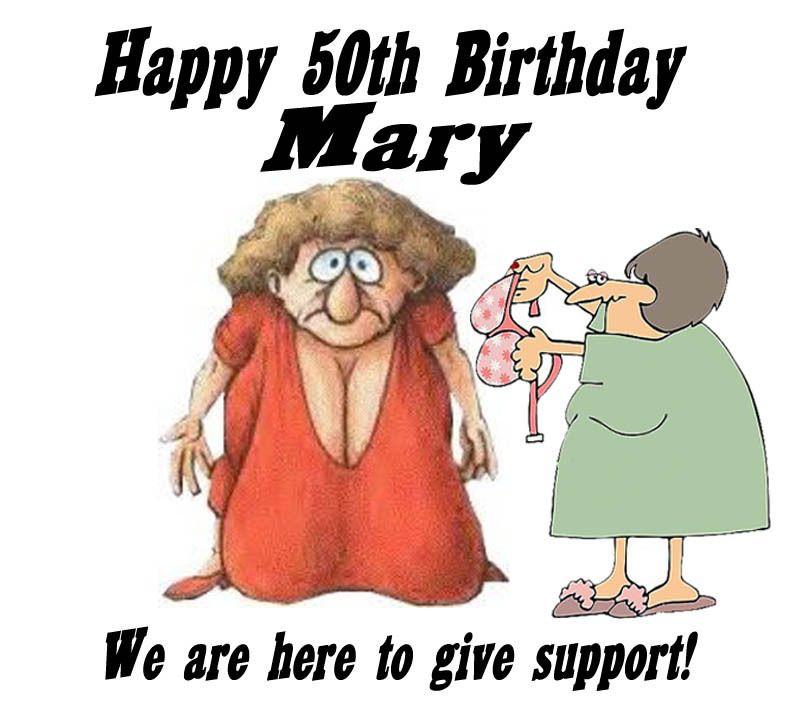 Happy 50th Birthday Funny Edible Cake Image