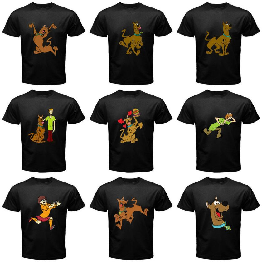 SCOOBY DOO FAN BLACK MAN TEE COLLECTION*ASSORTED DESIGN