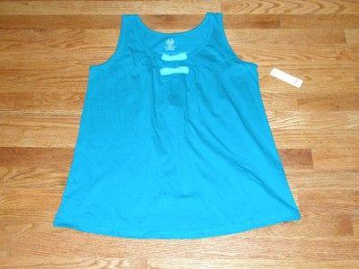 NWT Duo Maternity Teal Green Tank Top Shirt Large L