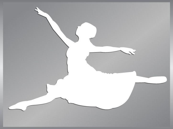 Ballerina silhouette cut vinyl decal #2 Ballet Dancer