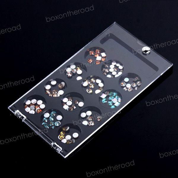 Mix 12 color leopard stickers nail art Glitters Rhinestone Deco