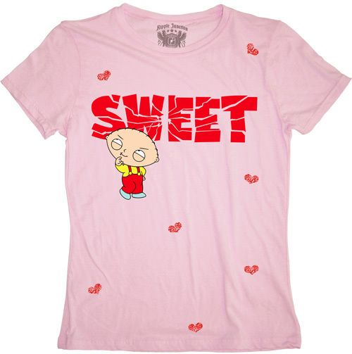 New family guy stewie sweet womans shirt funny cartoon This guy has an awesome girlfriend shirt